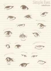 Simple Manga Eyes - reference