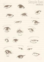 Simple Manga Eyes - reference