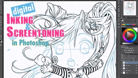 Digital Inking & Screentoning in Photoshop [part 1]