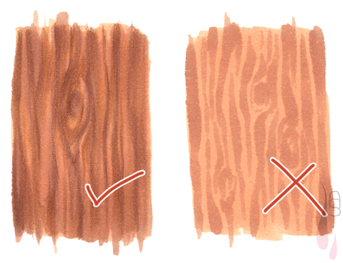 A tutorial on how to create a wood texture with markers.