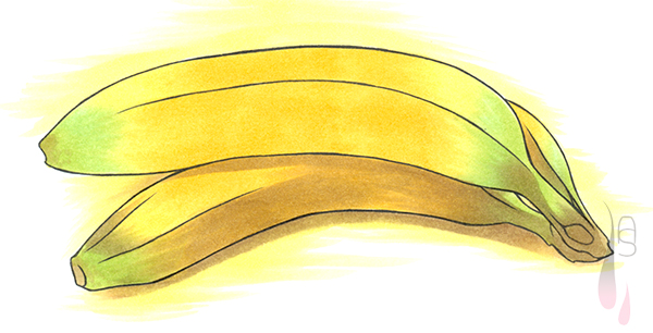 A tutorial on how to colour a banana with markers.