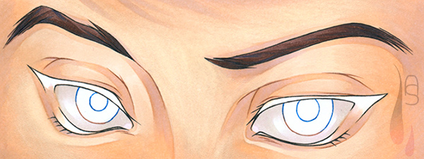 A tutorial on how to colour manga eyes.