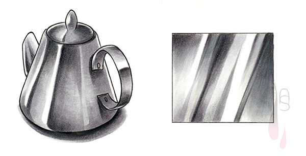 A tutorial on how to create a metal texture with markers.